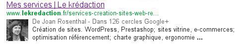Le Krédaction est plus visible dans les résultats de recherche Google grâce à la balise rel author