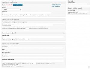 Plugin WordPress BackWPup - Où sauvegarder mes fichiers ?