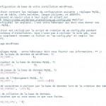 Les informations à modifier dans le fichier wp-config-sample.php