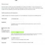 Un formulaire d'installation s'ouvre pour donner des informations sur le site WordPress