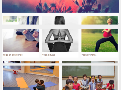 Site vitrine – Cours de yoga