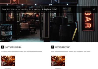 Site de réservation de soirées